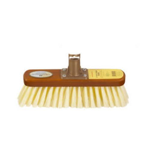 """Groundsman Woodbacked Broom Head Only With Soft Cream Bristles 12"""" PA92612"""