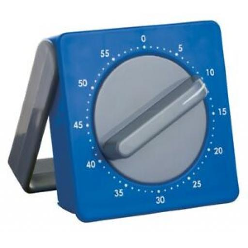 Colourworks Kitchen Timer Wind Up With Stand And Magnet Blue CWMTIM