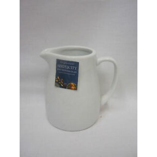 Price And Kensington Simplicity White Porcelain Milk Jug 180ml Small