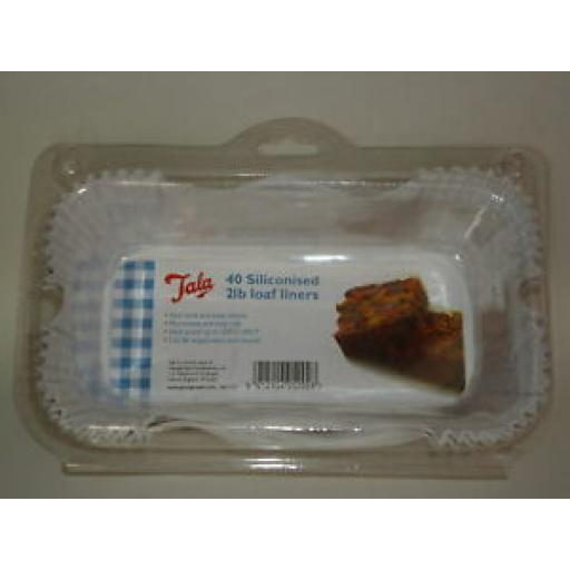 Tala Non Stick Loaf Tin Cake Cases Liners Pk40 2LB 10A 05202