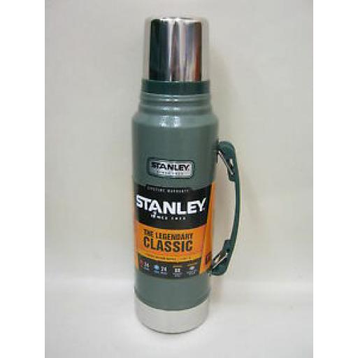 Stanley Classic Vacuum Bottle Stainless Steel Flask Jar 1L Green