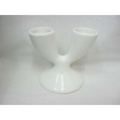 Wm Bartleet White Porcelain Double Egg Cup Cups 2 Eggs T8