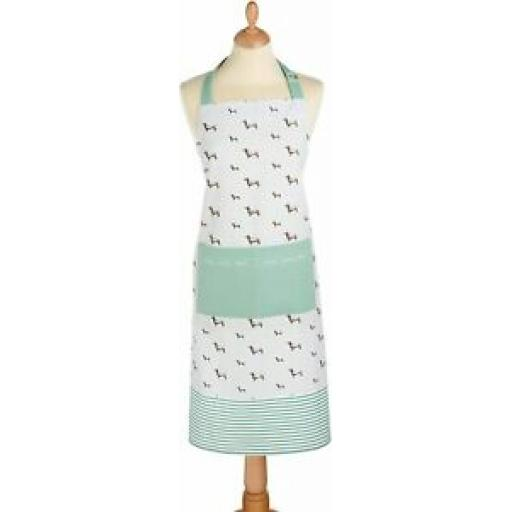 Kitchecraft 100% Cotton Textile Kitchen Cooking Apron Dachshund Dog KCDACHAPRON