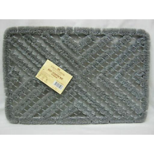 Groundsman Boot Scraper Mat Coir Door Doormat Grey 60cm x 40cm GMDM225