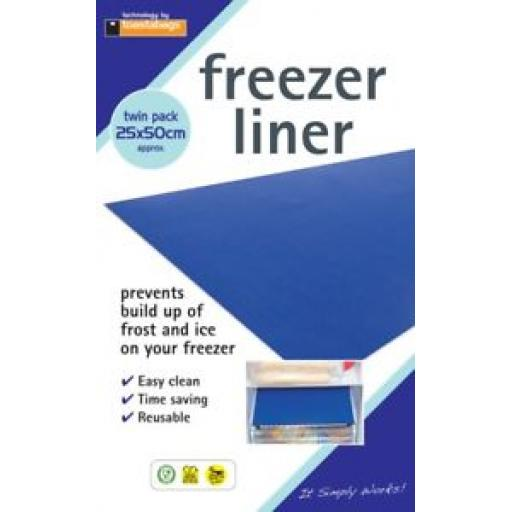 Toastabags Freezer Liner Prevents Bulid Up Of Frost Ands Ice Pk2 25cm x 50cm