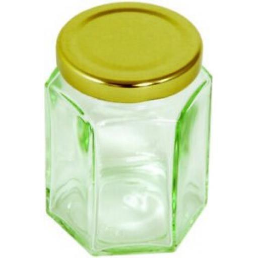 6 x Tala Glass 55ml Hexagonal Glass Jam Jar 10A00212