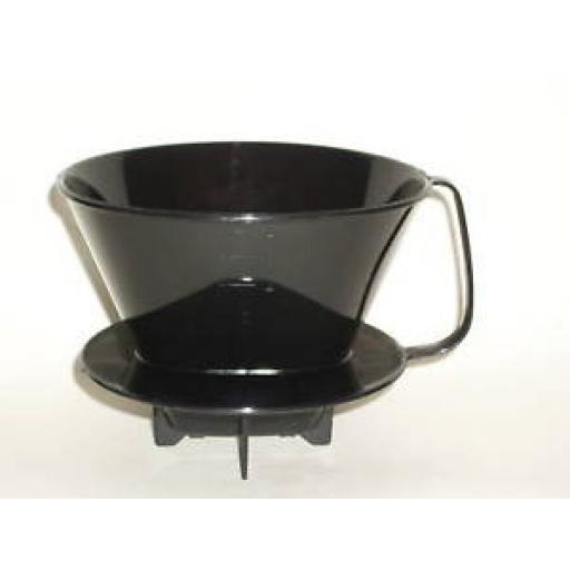 Dark Brown/ Black Plastic Coffee Filter Paper Cone No 4 Size