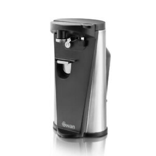 Swan Electric 3 In 1 Can Tin Opener With Bottle Opener And Knife Sharpener
