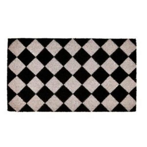 Groundsman Coir Doormat 40cm x 70cm GMDM85 Chequerboard