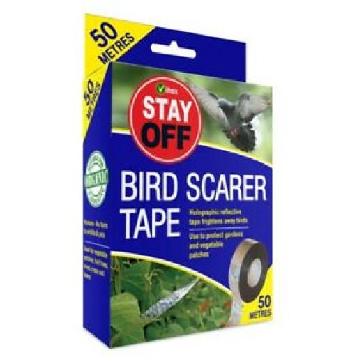 Vitax Bird Scarer Tape Deterrent 50 Metres Protects Gardens And Crops 5STBS1