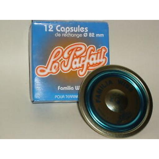 Le Parfait Metal Lids Discs Kilner Pickling pk12 82mm