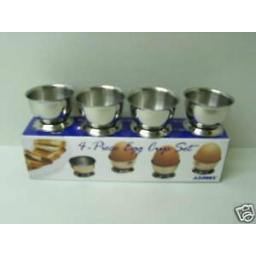 Sunnex Stainless Steel Boiled Egg Cup Cups Set Pk 4