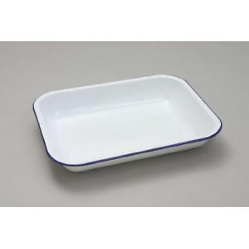 Falcon White Enamel Bakepan Roasting Dish Bake Pan 28cm x 23cm