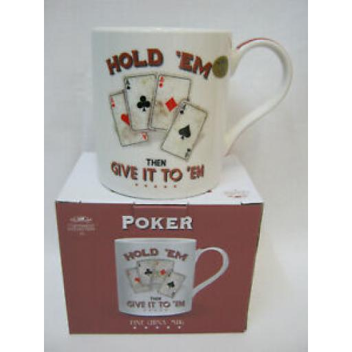 Lesser And Pavey Mug Beaker Coffee Tea Cup Poker Hold Em Then Give It To LP94099