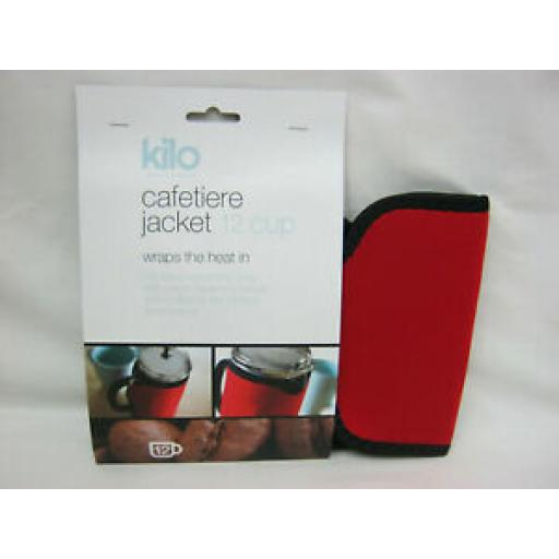 Kilo Cafetiere Insulated Thermal Heat Wrap Jacket 12 Cup Red C118