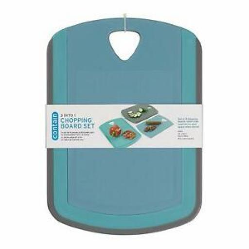 Chef Aid Contain Nesting Chopping Cutting Serving Boards 3 Into 1 10E10379