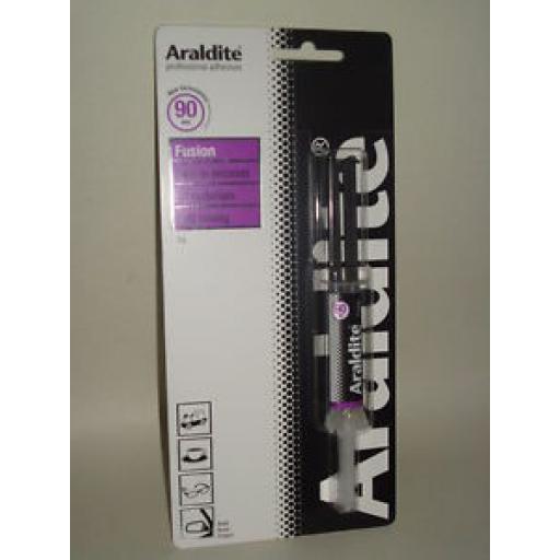 Araldite Fusion Strong Adhesive Epoxy Glue 90 Seconds 3g Syringe