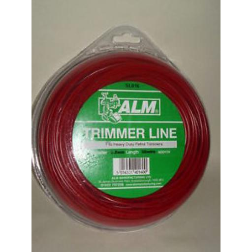 ALM Heavy Duty Petrol Trimmer Line Red 3.00mm 58 Metres SL016