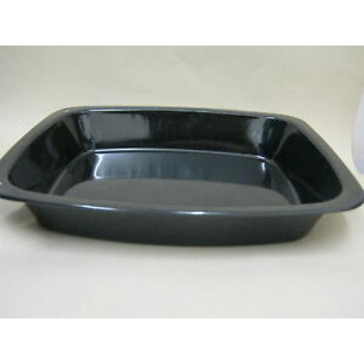 Pendeford Enamel Large Oblong Roaster Roasting Dish Black P815