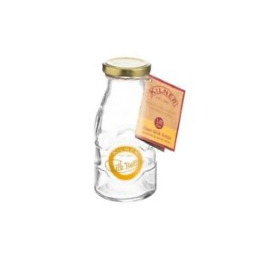 Kilner Traditional School Style Glass Milk Bottle Screw Top 189ml