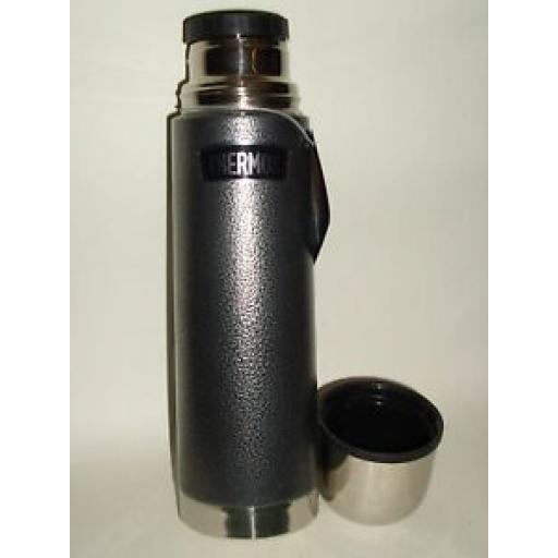 Thermos Hammertone Grey Flask Stainless Steel 0.5L