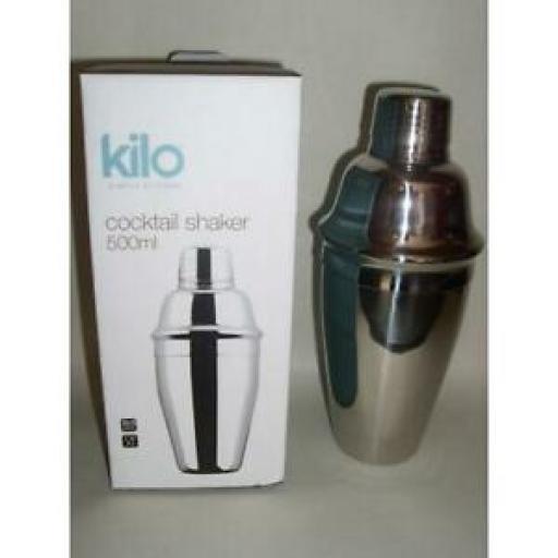Kilo Stainless Steel Cocktail Shaker 500ML E173