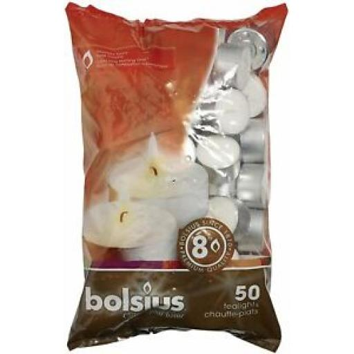 Bolsius 8 Hour Burning Tealights Pk 50