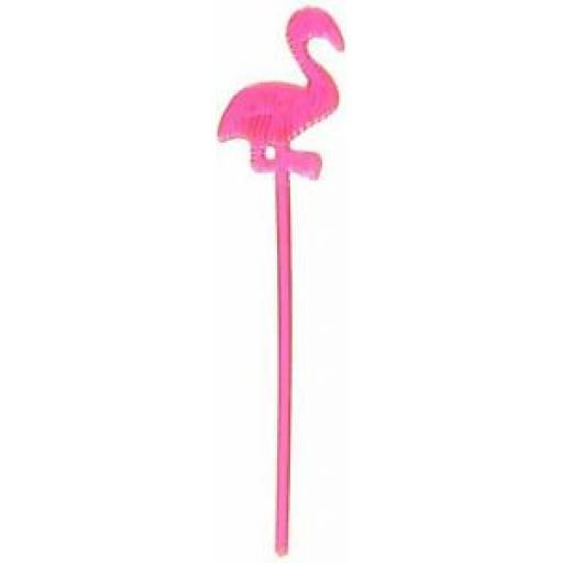 Unique Plastic Pink Flamingo Cocktail Sticks Pk 24
