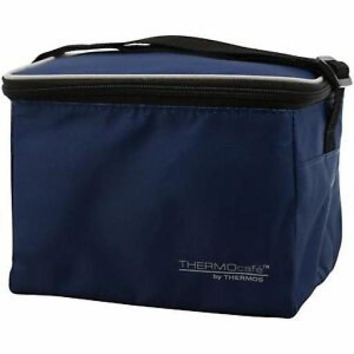Thermos Thermocafe Insulated Cooler Cool Bag 6 Can 3.5 Litre Navy 157940