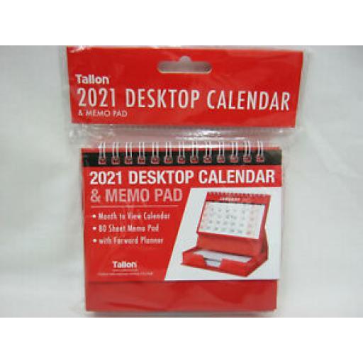 Tallon Small Spiral Bound Desktop Calendar And Memo Pad 2021