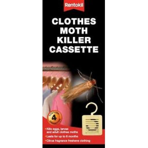 Rentokil Hanging Clothes Moth Killer Cassette Hang FM41 Pk4