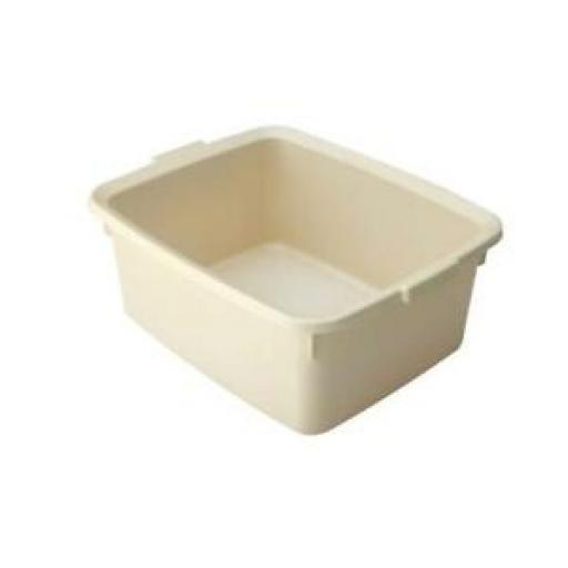 "Addis Linen Cream Oblong Plastic Washing Up Bowl 42cm Large 16.5"" 5 Star"