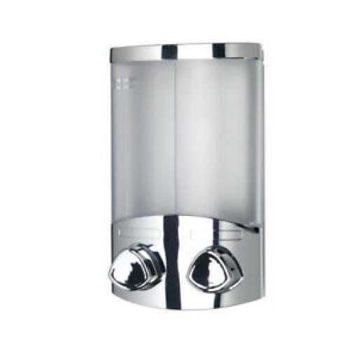 Croydex Euro Liquid Soap Shampoo Dispenser Duo Chrome PA660941