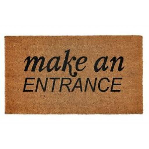Groundsman Coir Doormat Make An Entrance Door Mat 40cm x 70cm GMDM255
