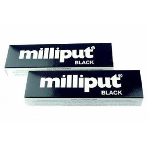 2 x Tubes Milliput 2 Part Epoxy Putty Black