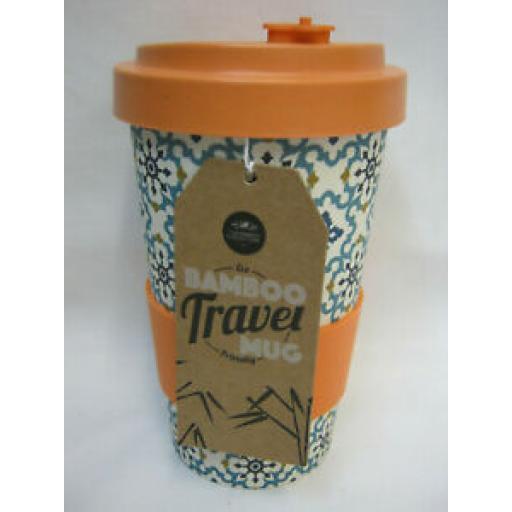 Lesser And Pavey Bamboo Travel Mug Beaker Cup Orange Eco Friendly