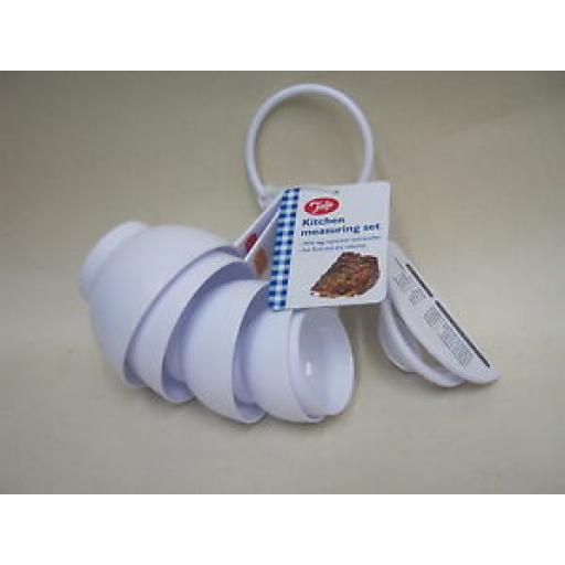 Tala Plastic Measuring Cups Scoops Set 7 Piece Ref 10480