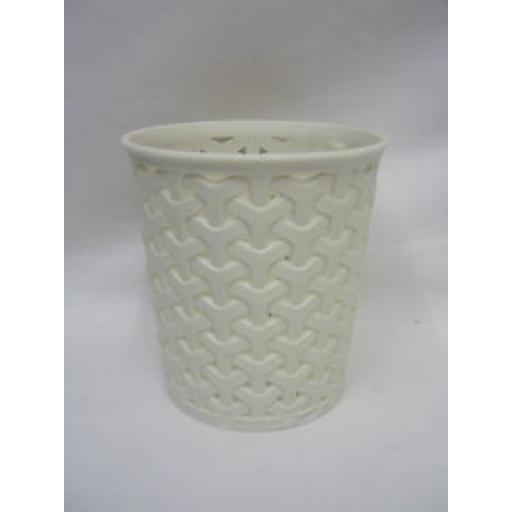Curver My Style Small Round Mini Waste Bin Storage Pot Plastic Cream