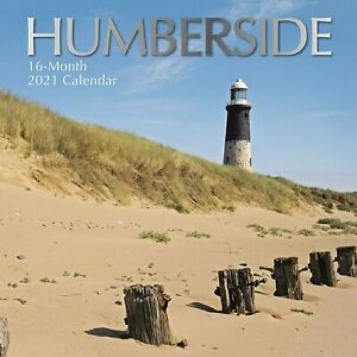 Square Glossy 16 Month Wall Calendar Humberside 2021