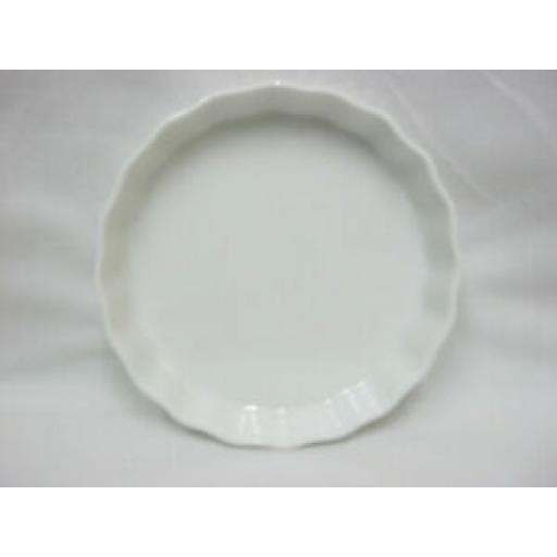Wm Bartleet Fluted Crinkle Edge Flan Dish White Porcelain Small T448 14cm