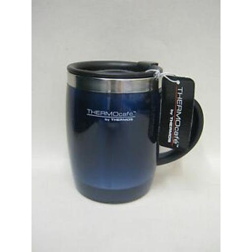Thermos Thermocafe Desk Travel Mug Beaker Cup 0.45L Blue