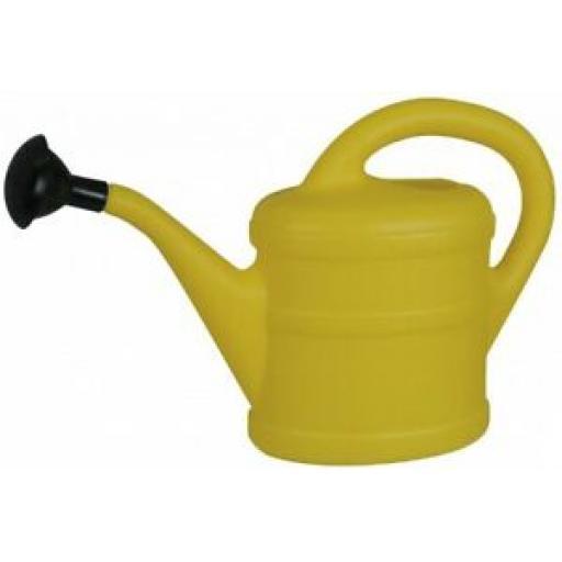 Green Wash Childrens Kids Plastic Watering Can Indoor Outdoor Yellow 1 Litre