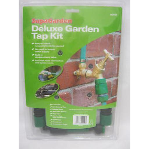 Supagarden Deluxe Outdoor Outside Garden Tap Kit SOTS1