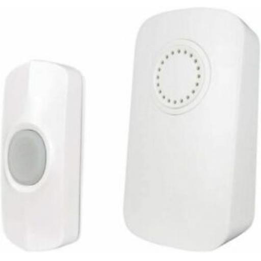 Unicom Wireless Wirefree Portable Door Bell 32 Chime Kit 100M Range 66705