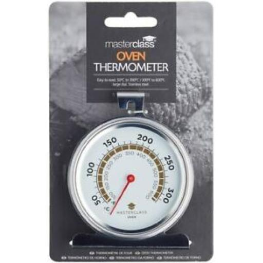 Masterclass Large Oven Dial Thermometer Temperature Gauge Stainless MCOVENSS