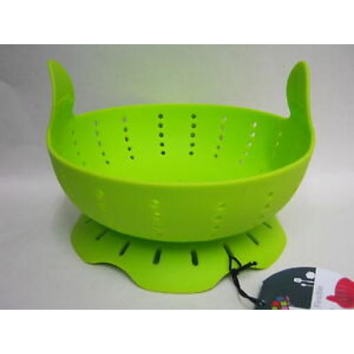 Zeal Silicone Collapsible Flexible Rice Vegetable Steamer M126 Lime Green