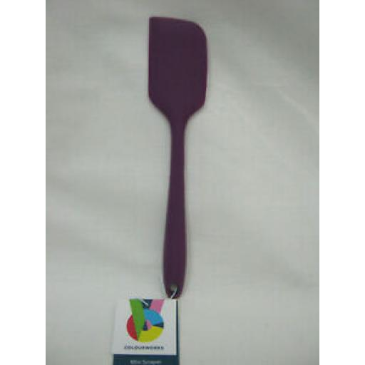 Kitchen Craft Colourworks Silicone Mini 20CM Bowl Scraper Spatula Purple