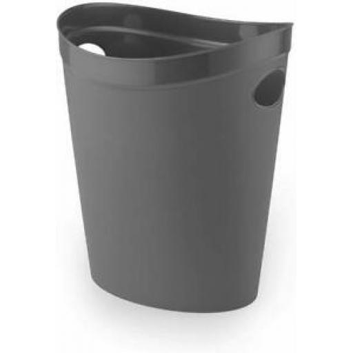 Addis Flexi Multi Storage Plastic Oval Waste Paper Bin Charcoal 518039