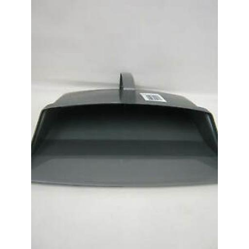Addis Plastic Metallic Silver Grey Closed Hooded Dustpan 9763
