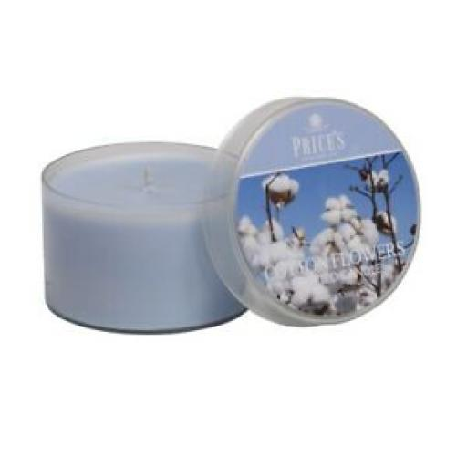 Prices Wax Scented Tin Lid Candle Cotton Flowers